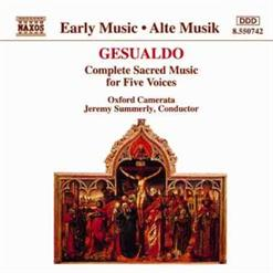 Complete Sacred Music For Five Voices